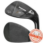 BRIDGESTONE J33 BLACK SATIN WEDGE