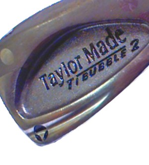 TAYLORMADE TITANIUM BUBBLE 2 IRON (STEEL SHAFT)