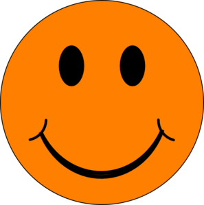 Orange Happy Face